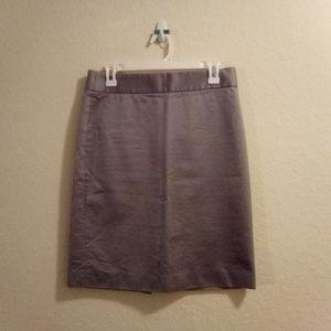 J. Crew Grey Size 4 Pencil Skirt